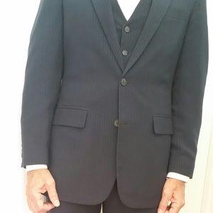 Blue 3 piece Pin Stripe Suit